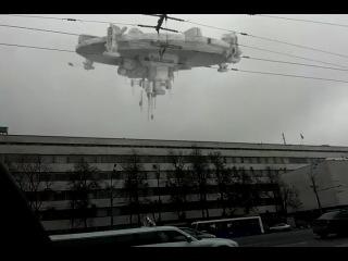 НЛО в России городе Москва на садовом кольце в районе метро Маяковская